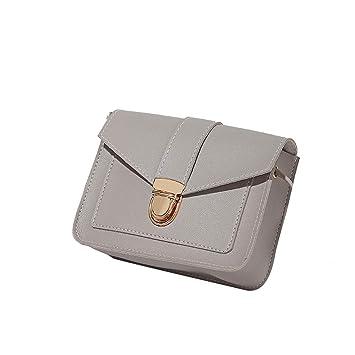 Bolsos de Hombro de Color Caramelo de Las Mujeres de Pequeño Paquete Cuadrado Color Sólido Salvaje