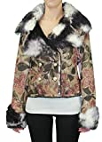 Custo Barcelona Women's MacAlister Pacifiss Crop Jacket 6 Multi-Color