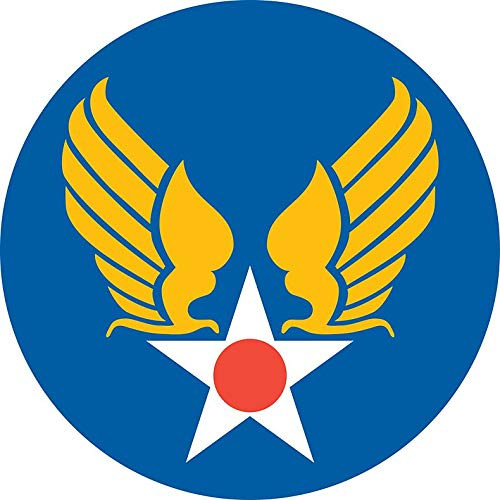 ICK Vinyl US Army Air Corps Hap Arnold Wings Sticker Decal Car Bumper Sticker 5