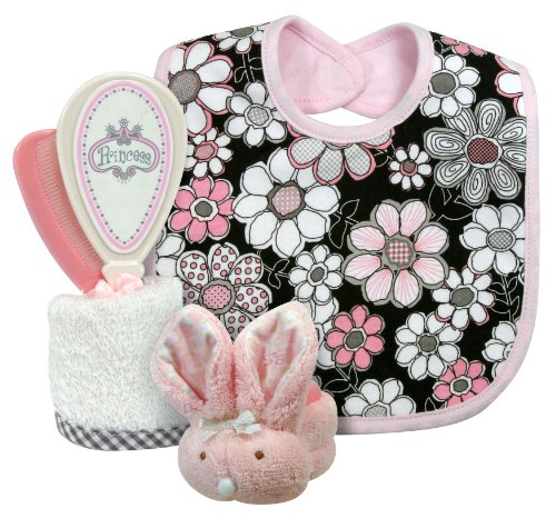 Stephan Baby 4 Piece Bathing Gift Set, Vintage Petal from Stephan Baby
