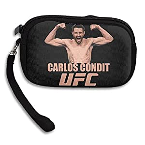 LHLKF UFC Carlos Condit Fashion Small Wallet With Zipper Closure