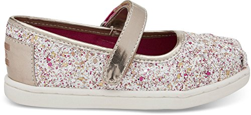 Toms Tiny Mary Jane Sequins And Glitter Flat, Size: 7 M US Toddler, Color: Candy Cane Glitter Party