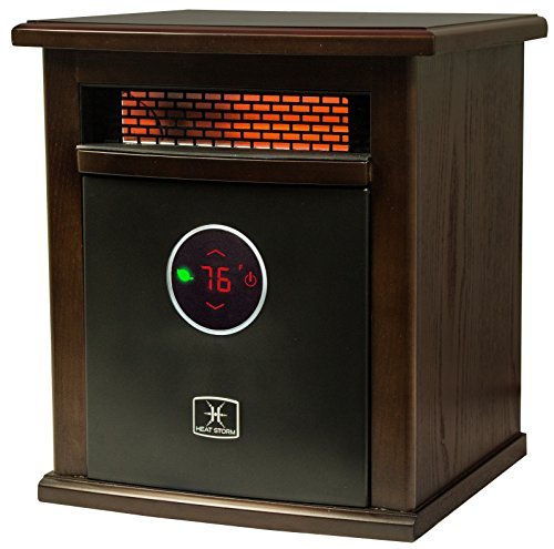 Heat Storm Logan Deluxe Indoor Portable Infrared Space Heater - 1500 Watt - Stylish - Built in Thermostat & Overheat Sensor - Remote Control - Perfect For Any Room EnergyWise Solutions Infrared