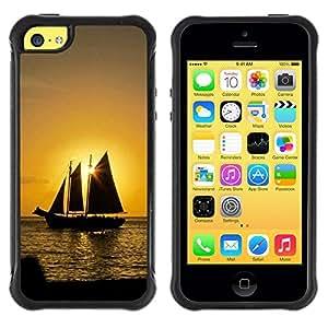Suave TPU GEL Carcasa Funda Silicona Blando Estuche Caso de protección (para) Apple Iphone 5C / CECELL Phone case / / Sunset Ship Beautiful Nature 10 /