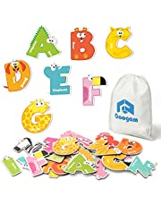 Coogam Magnetic Letters 26Pcs Jumbo ABC Alphabet Colorful Animal Shape Large Uppercase Fridge Magnets Educational Toy Set Learning Spelling Games for Kids 3 4 5 Years Old