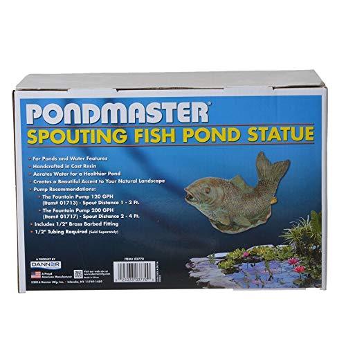 PondMaster 03770 Spouting Fish Resin Statue Fountain Spitter Garden & Pond Decor