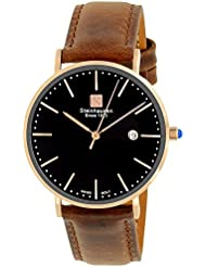 Steinhausen Womens S0619 Classic Burgdorf Swiss Quartz Stainless Steel Watch With Brown Leather Band