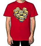 Minions Love Formation WaKaWaKa Tshirt Men Red L WF