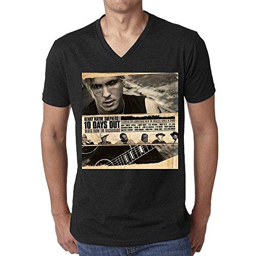 Kenny Wayne Shepherd 10 Days Out Blues T Shirt Men V Neck Black