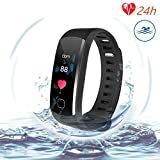 L8star Fitness Tracker, Smart Activity Tracker With Sleep Monitor, Continuous Heart Rate Monitor, Calorie Burn Tracker, Pedometer, Multi-Color Screen Display, Blood Pressure for iOS and Android Phone