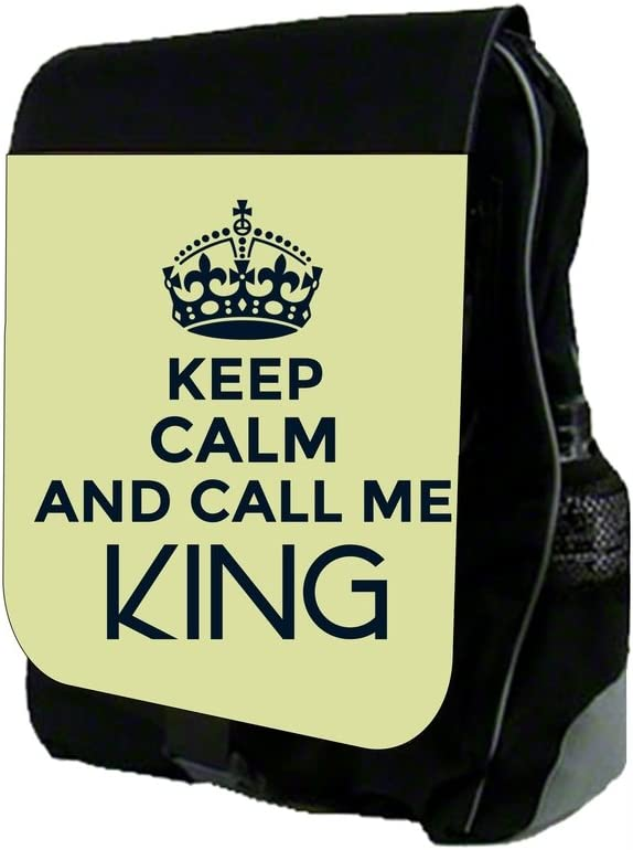 Keep Calm and Call Me King-Slate School Backpack and Pencil Case Set