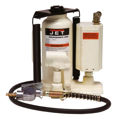 (JET AHJ-20 20-Ton Air/Hydraulic Bottle Jack with Case)