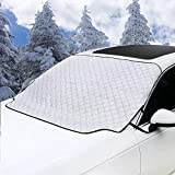 Mumu Sugar Car Windshield Snow Cover - Car Windshield Snow Ice Cover With 4 Layers Protector - Waterproof Windshield Winter Cover For Ice - Snow - Frost - UV Protection - Extra Large Size Fits for Most Vehicles