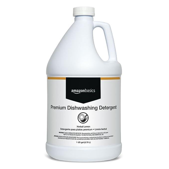 Amazon.com: AmazonBasics Premium Dishwashing Detergent, Concentrate, Herbal Lemon, 1-Gallon, 4-Pack: Industrial & Scientific
