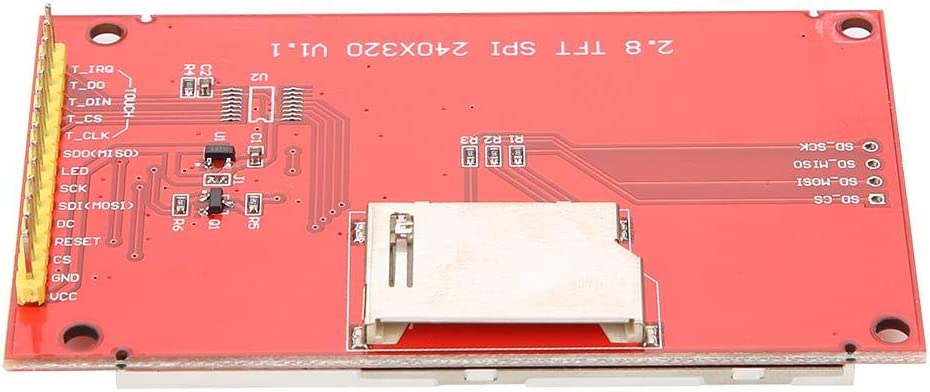 direct Serial Peripheral Interface mode Yinhing LCD Display Module,2.8 Inch TFT SPI Serial Port LCD Touch Panel Module ILI9341 240x320 5V//3.3V