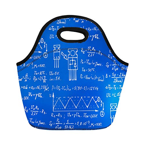 (Semtomn Neoprene Lunch Tote Bag Physics Electronic Engineering Mathematics Equation Scheme and Calculations Endless Reusable Cooler Bags Insulated Thermal Picnic Handbag for Travel,School,Outdoors)