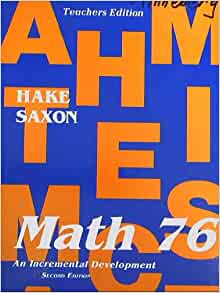 Saxon Math 76 Second Edition Home Study Packet