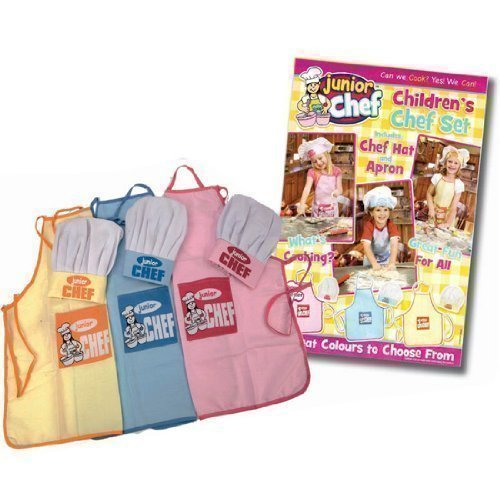 *NEW* KIDS CHILDRENS JUNIOR CHEF KIT SET COOKING APRON CHEFS HAT BLUE