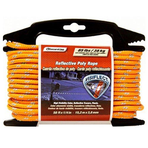 Lehigh RMFPO1450 1/4-Inch by 50-Feet Reflective Polypropylene Rope, Orange ()