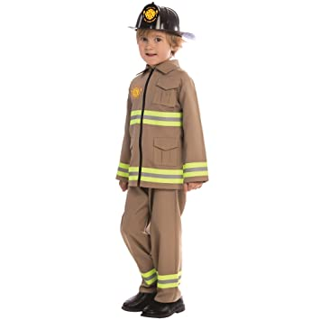 Dress Up America Disfraz de Bombero KJ para niños
