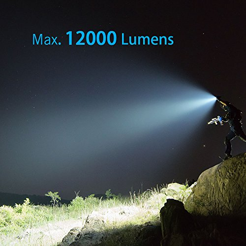 OLIGHT X7R Marauder USB TYPE-C rechargeable 12,000 Lumen LED flashlight/searchlight, 4 X 18650 rechargeable batteries with GrapheneFast battery case by OLIGHT (Image #7)