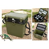 Fishingmad Tackle Seat Box with side tray and backpack option
