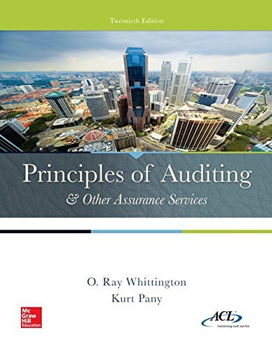 Principles of Auditing & Other Assurance Services (Irwin Accounting)
