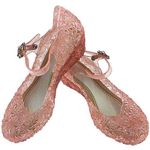 Tyidalin Mädchen Ballerinas Kinder Prinzessin Königin Kostüm Schuhe Sandalen Absatz Schöne Verkleidung Weihnachten Pink EU28-33