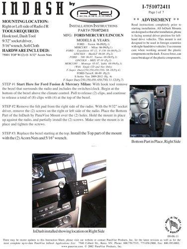 Padholdr Utility Series Premium Locking Tablet Dash Kit for Ford 2004 - 2014 by PADHOLDR (Image #4)