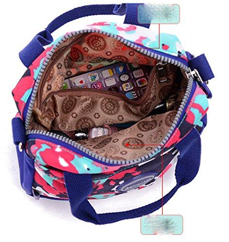 Keshi Nylon Niedlich Damen Handtaschen, Hobo-Bags, Schultertaschen, Beutel, Beuteltaschen, Trend-Bags, Velours, Veloursleder, Wildleder, Tasche Mehrfarbig 6
