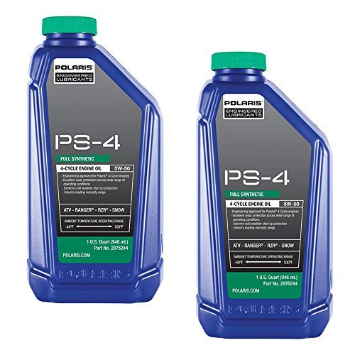 (Polaris Engineered PS-4 Synthetic 4-Cycle Engine Oil, 1 Quart (Pack of 2))