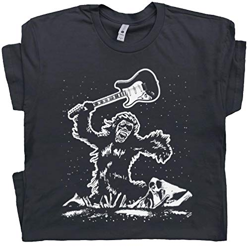 8db6a8b1 Electric Guitar Smash T Shirt Bigfoot Guitar Tee The Guitarist 80s Vintage  Rock Band Clash Bass