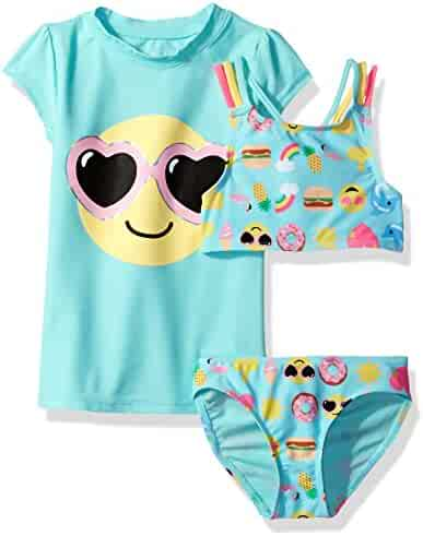 The Children's Place Girls' 3-Piece Rashguard Set