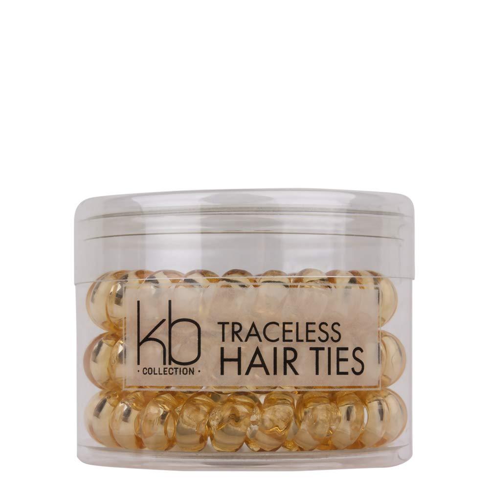 Kenneth Bernard Large Traceless Phone Cord Hair Ties Blonde Chatters LP
