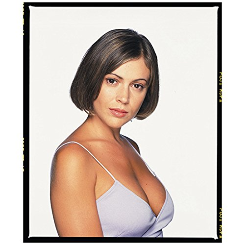 Alyssa Milano 8 inch X 10 inch photograph Charmed (TV Series 1998 - 2006) Wearing Spaghetti Straps Pose 3 - 2006 Strap New