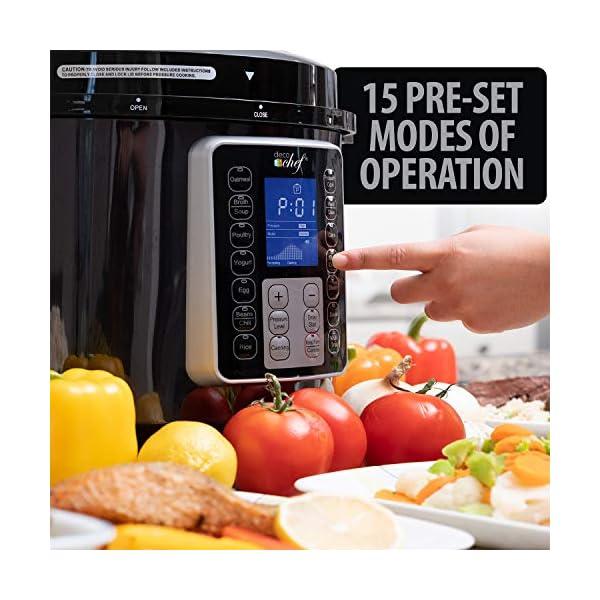 Deco Chef 8 QT 10-in-1 Pressure Cooker Instant Rice, Saute, Slow Cook, Yogurt, Meats, Deserts, Soups, Stews Includes… 3