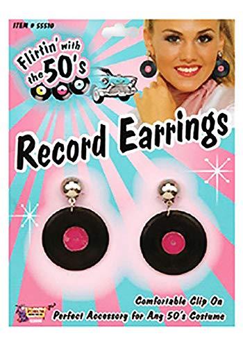 Forum Novelties 50s Record Earrings ()