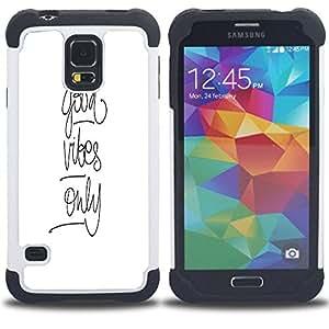 /Skull Market/ - Good Vibes For Samsung Galaxy S5 I9600 G9009 G9008V - 3in1 h????brido prueba de choques de impacto resistente goma Combo pesada cubierta de la caja protec -