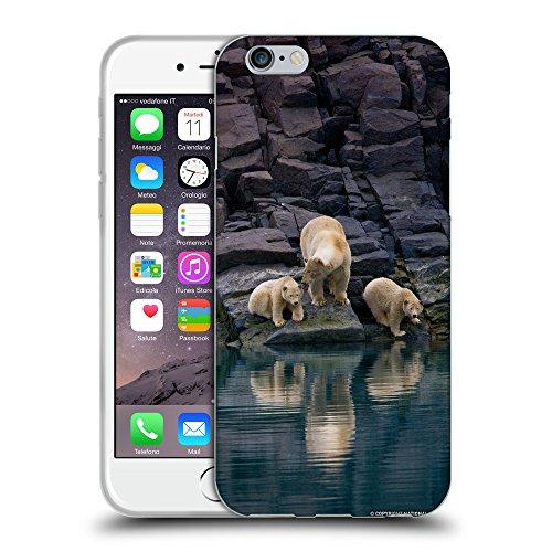 """Just Phone Cases Coque de Protection TPU Silicone Case pour // V00004098 Les ours polaires sur les rochers // Apple iPhone 6 4.7"""""""