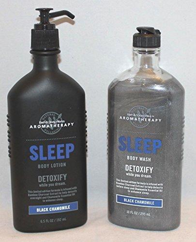 Bath & Body Works Aromatherapy Black Chamomile SLEEP with body wash and body lotion (Black Chamomile)