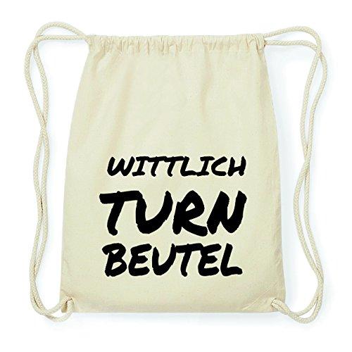 JOllify WITTLICH Hipster Turnbeutel Tasche Rucksack aus Baumwolle - Farbe: natur Design: Turnbeutel