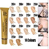 Aviat Small Gold Tube Concealer Full Coverage Cream Concealing Foundation Makeup Repair for Blemish/Acne/Dark Circles/Red Blood/Scar