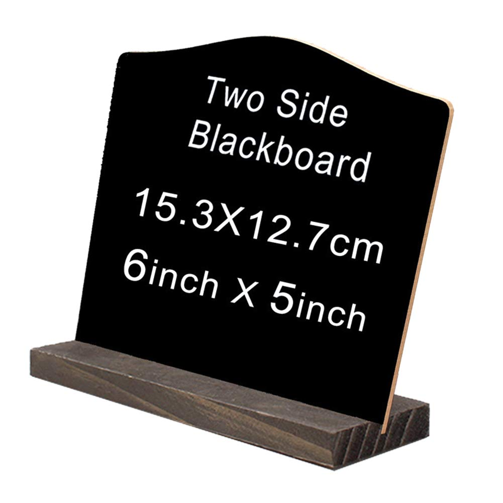 arch Restaurant 1pc Mini Chalkboard Signs 5 X 6 Inch Vintage Wooden Tabletop Chalkboard Sign with Base Stand Framed Message Chalkboard Sign for Party Wedding and Home