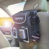 Tchipie Car Trash Can Garbage Bin, Vehicle Trash Bag Hanging, Auto Trash Container Trashcan, Truck Trash Can with Lid and Storage Pockets - Waterproof, Removable and Washable Liner: more info