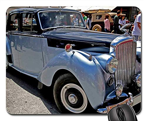 Mouse Pads - Spain Blue Bentley Car Auto Show Vintage Retro 9.8x11.8 inch ()