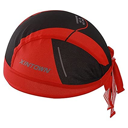 HYSENM Sports Cycling Bandana Hat Breathable Helmet Liner Headwear Beanie Hat Cycling Cap Quick Dry Sun UV Protection Moisture Absorption, AA-1