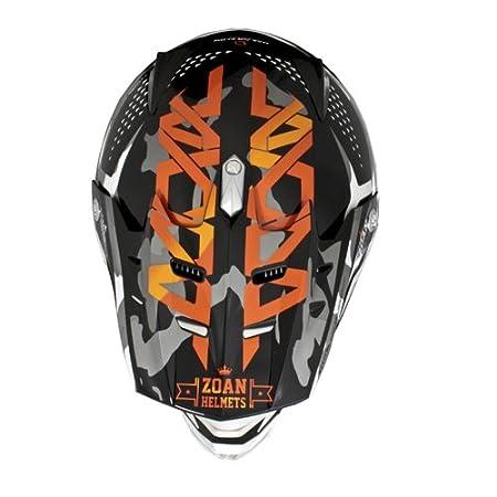 Amazon.es: Zoan MX-2 Sniper naranja negro Dot Offroad motocicleta casco de equitación Youth Medium