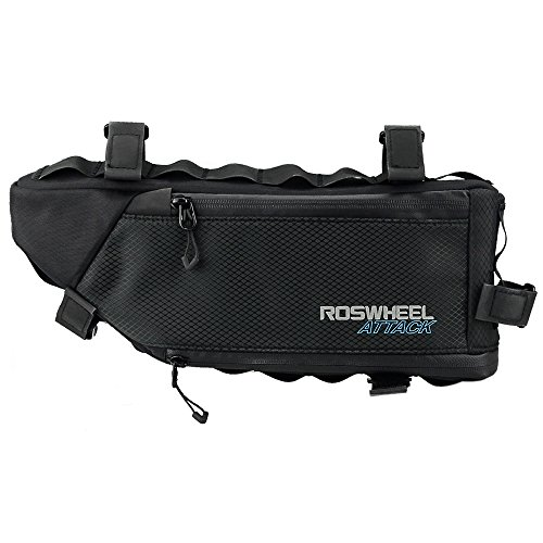 allnice Bike Frame Bag 3-4L Frame Pouch Waterproof Bike Storage Bag Mountain Road MTB Bicycle Triangle Bag Strap-on Bicycle Pouch by allnice (Image #5)