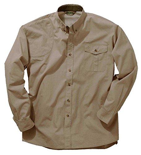 Bob Allen 142K Long Sleeve Vent Back Shirt, Right Hand, Khaki, 4XL - 142K-142KKR4XL