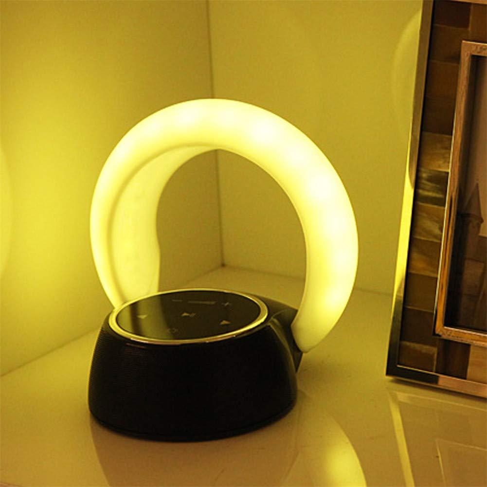 充電式ナイトライト屋内ベッドアンビエントライトサポート目覚まし時計ブルートゥーススピーカー音楽再生機能ホーム。ベッドルームルームの雰囲気光, (サイズ : Warm Whits) Warm Whits  B07MW62YNR